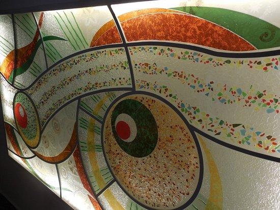 Auberge La Veranda : Es un decorado en el techo del comedor:Bellisimo