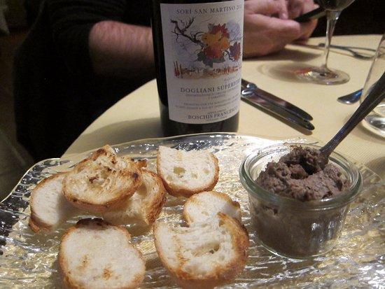 Cissone, Italy: Rabbit liver pate