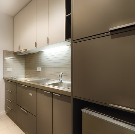 Studio apartments come fully equipped with a kitchenette ...