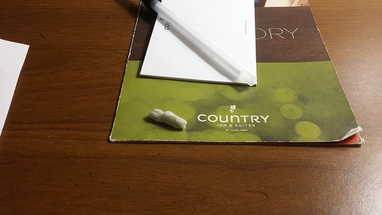 Country Inn & Suites By Carlson, Michigan City: The chewing gum mentioned.