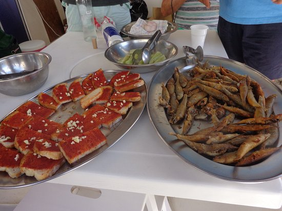 Adamas, Greece: Some of the beautiful fresh food