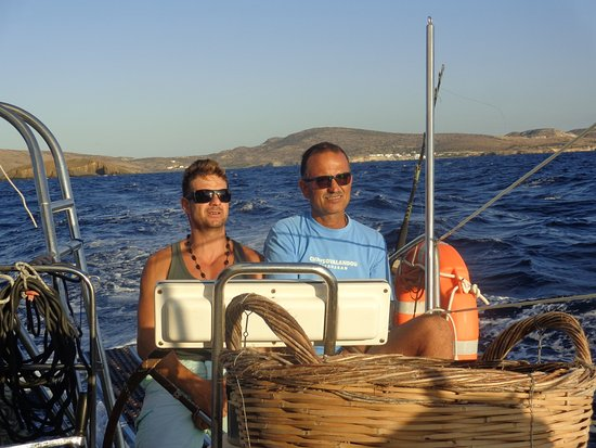 Adamas, Greece: The captain and crew