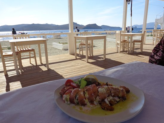Klima, Greece: Stuffed squid - delicious