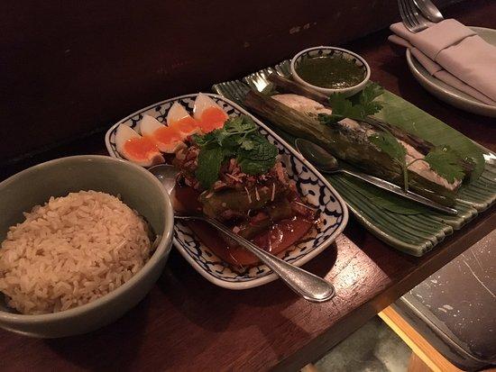 soul food mahanakorn rice salad fish words cannot describe the