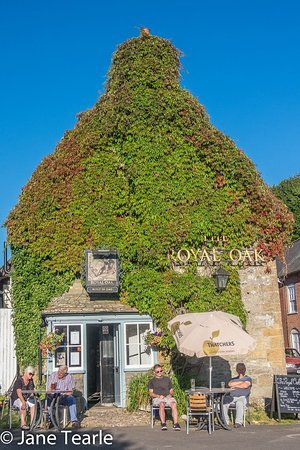 Cerne Abbas, UK: The beautiful pub in the summer!