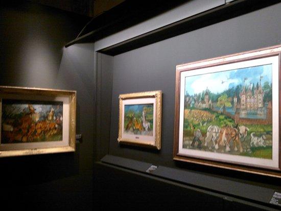 Museo Civico Castello Ursino : altro scorcio della mostra con i dipinti di Ligabue