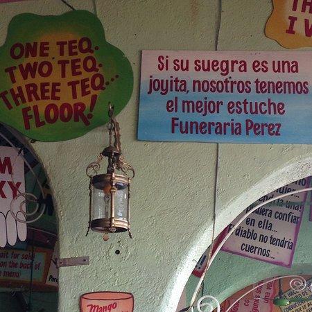 Placas Com Frases Engraçadas Coladas Pelas Paredes E Teto Do
