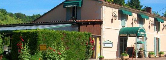 Campsegret, França: Restaurant La terrasse