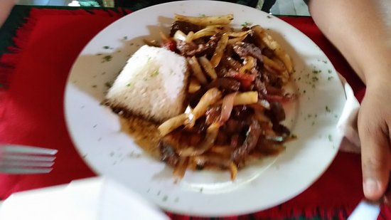 La Terraza Peruana : Shredded Beef with Rice Entree