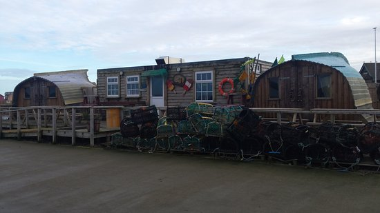 Fish Shack The On Harbourside In Amble Northumberland