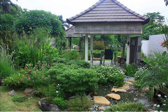 Bluehill Resort Tulamben: Stream Garden Wrapped Round A Gazebo. This Was  Built As An