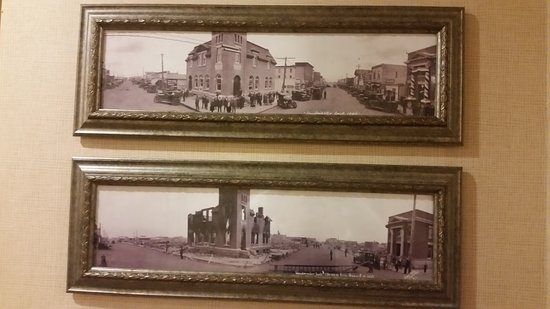 Best Western Plus Meridian Hotel: Just loved the old pictures from the Lloydmister archives of the town's history.