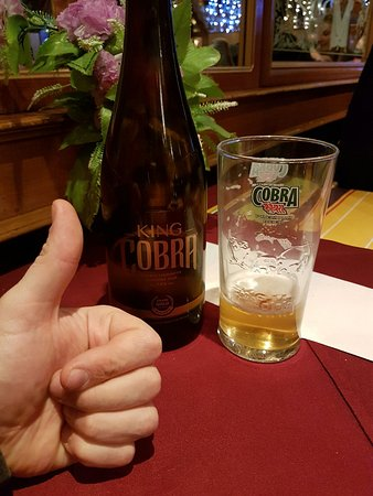 Strassen, Luxembourg : Very nice food and welcoming service and the best indian beer