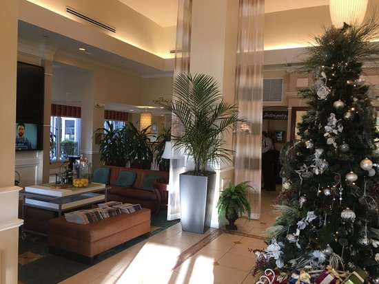 Hilton Garden Inn Fort Myers Airport / FGCU: View Into Lobby And Reception  From Front