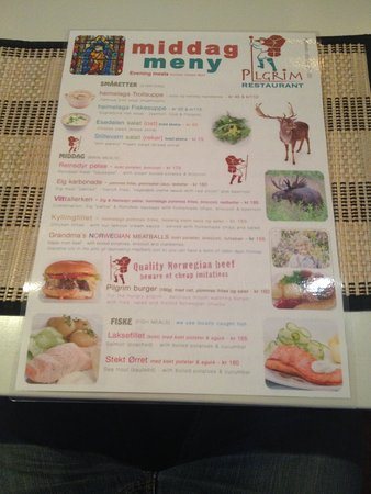 Balestrand, Norvegia: Quirky menu
