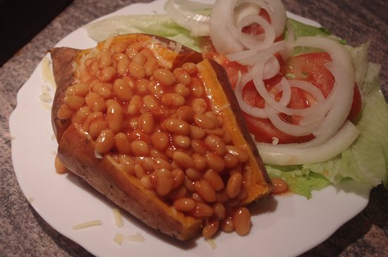 Towyn, UK: sweet jacket potato