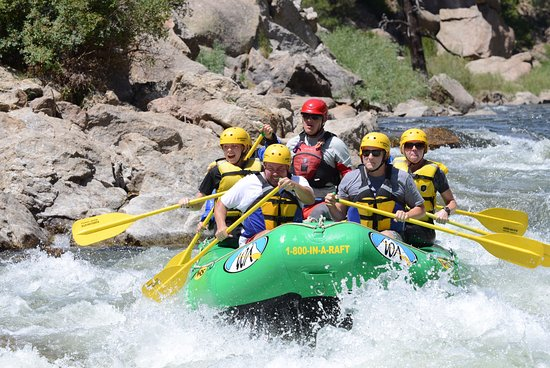 Grant, โคโลราโด: White-water rafting for the whole family