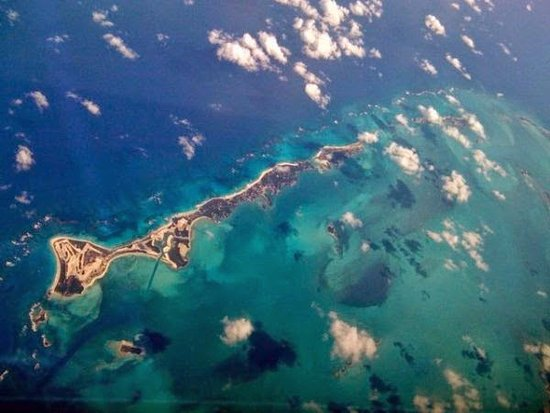 Great Guana Cay: Guana from above