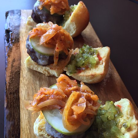 Chappaqua, NY: Mini Burgers with spicy onions.