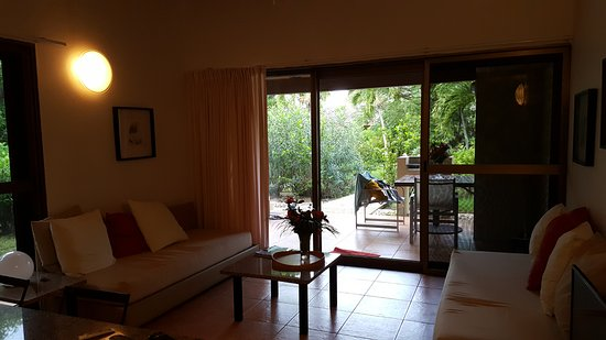 Mango Bay Resort: The grounds everywhere are fabulous and the suite has a lot of big windows.
