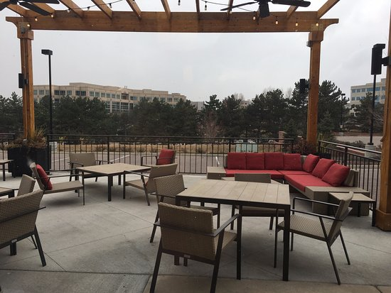 Englewood, CO: Deserted patio in November