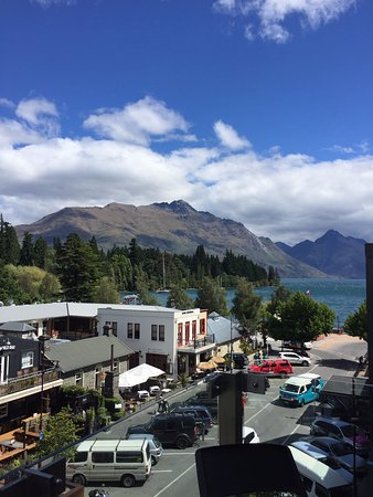 Nomads Queenstown Backpackers: view from room