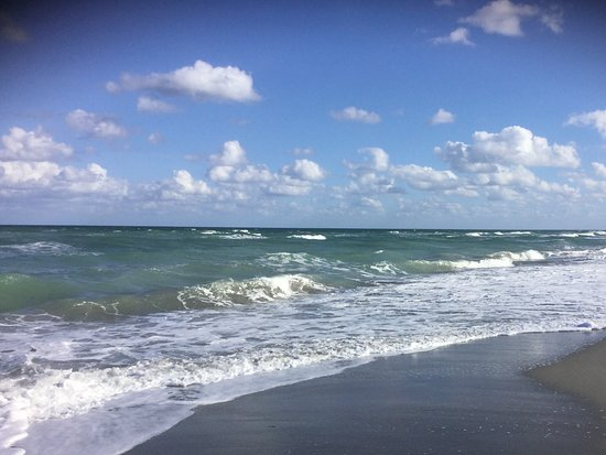 The beach at hobe sound, sandy and warm water