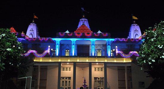 Lighting Decoration On Diwali Picture Of Dada Bhagwan