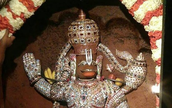 Lord Hanuman with decorated ornaments - Picture of Kengal