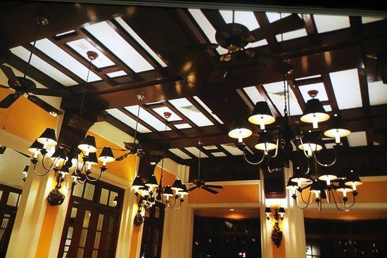 La Belle Epoque : The Restaurant ceiling - copied from the original Building Plans