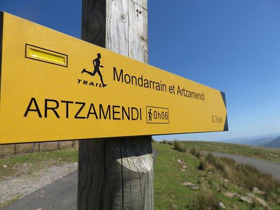 Itxassou, Francia: Chemin de randonnée.