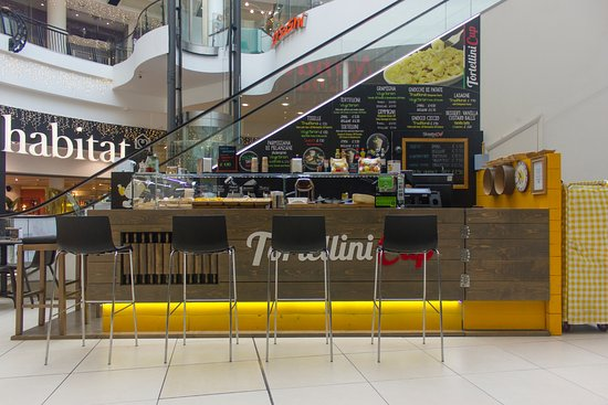 The kiosk of TortelliniCup in the O2 Centre of Finchley Road.