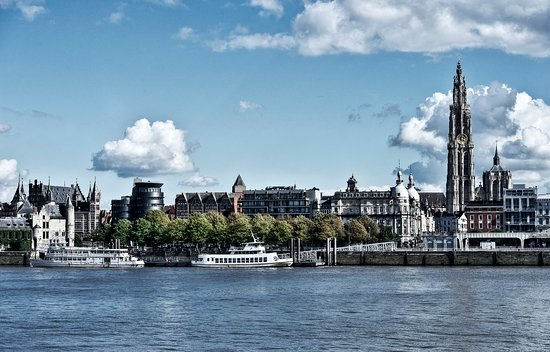 Flanders, Belgien: The Antwerp skyline