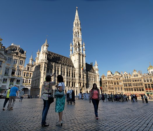 Flandes, Bélgica: Town Hall, Grand Place, Brussels