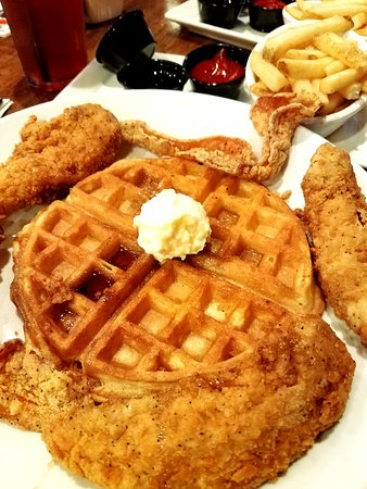 Chicken And Waffles Picture Of Humperdinks Restaurant
