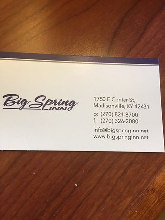 Madisonville, KY: Nice business card