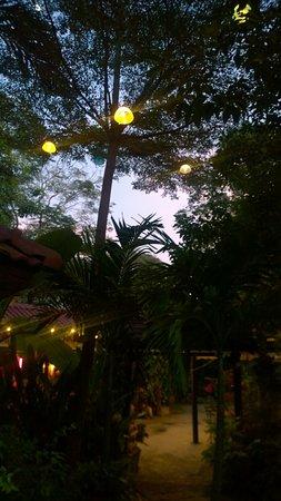 Moradok - Thai: Atmosfera romantica nel giardino quando cala la sera. Anche buona musica.