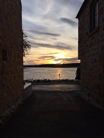 Findhorn, UK: View from the back door
