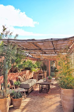 Rooftop Terrace Picture Of Riad Jardin Secret Marrakech Tripadvisor