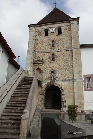 Église Notre-Dame-de-l'Assomption, Louhossoa (Pyrénées-Atlantiques, Nouvelle Aquitaine), France.