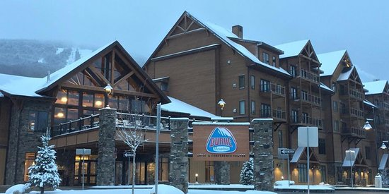 Front of Hotel during Winter