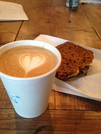 Redmond, WA: I ordered a cappuccino and slice of pumpkin harvest bread. Both delicious!