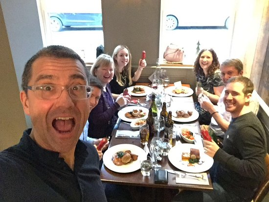 silversmiths restaurant manager photobombs our christmas lunch
