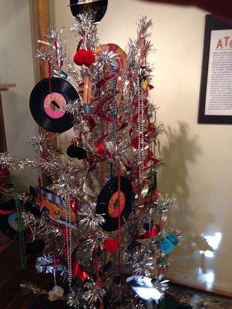 transylvania heritage museum aluminum christmas tree display at heritage museum brevard nc - Aluminium Christmas Tree