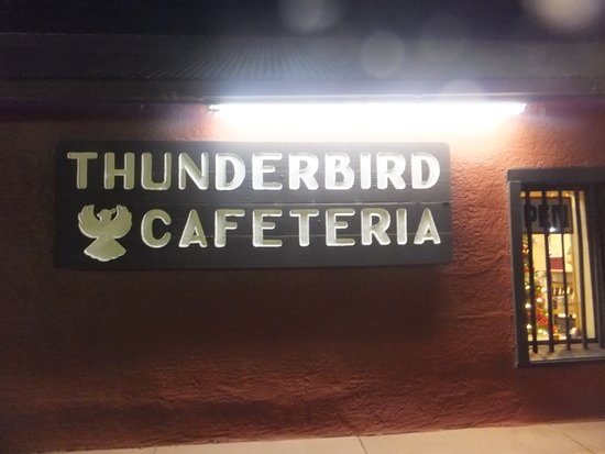 Thunderbird Lodge Cafeteria : Signage of the eatery