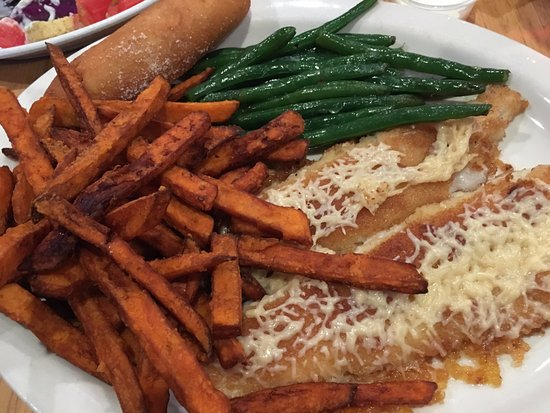 Sturgeon Lake, MN: Sweet Potato Fries w/Walleye