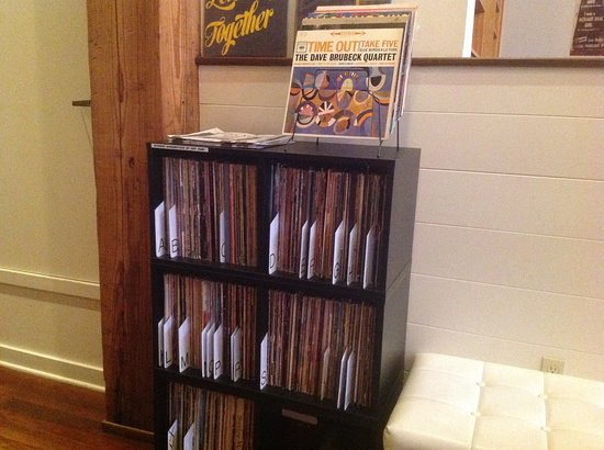 Commodore Hotel: LP vinyl collection shared with guests