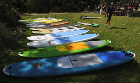 Jervis Bay Kayak & Paddlesports Co: Our SUP fleet has a wide range of sizes and styles.