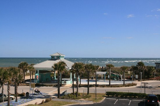 Hampton Inn & Suites St. Augustine - Vilano Beach : Ocean View from 3rd Floor Balcony Room