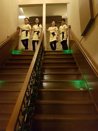 Crown Garden Spa Interior Stairs to massage rooms - Picture